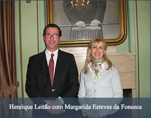 Henrique Leitão com Margarida Esteves da Fonseca